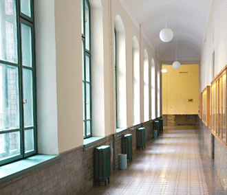 foyer, school, hallway, students