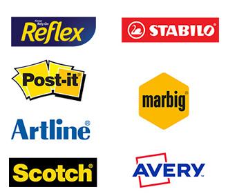 Reflex, Artline, Post it, Marbig, Avery, Scotch, Stabilo