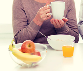 senior adult, drinking coffee, drinking tea, breakfast