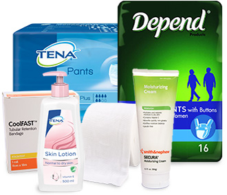 incontinence products, incontinence aids, personal care, aged care products, aged care supplies, wound care
