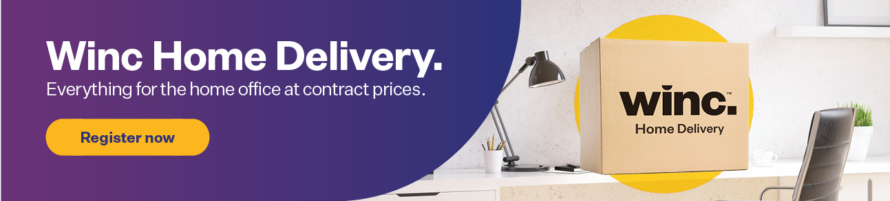 Winc Home Delivery. Everything you need for the home office at contract prices.