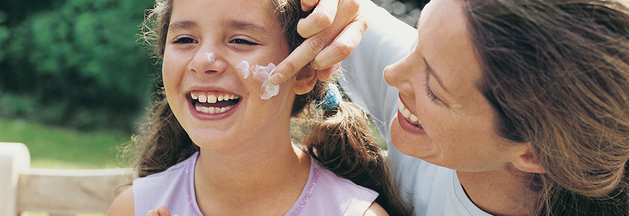 Making sunscreen application fun for kids
