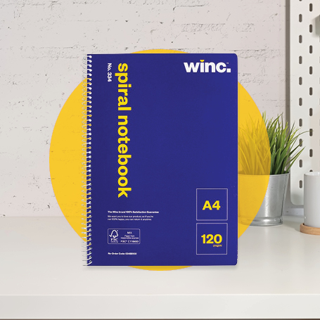 Winc Spiral Notebook No. 334 A4 120 Pages