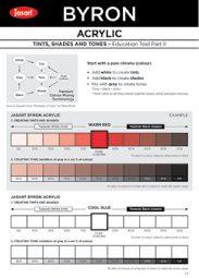 Tints, Tones & Shades Blank.