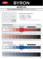 Tints, Tones & Shades Coloured.