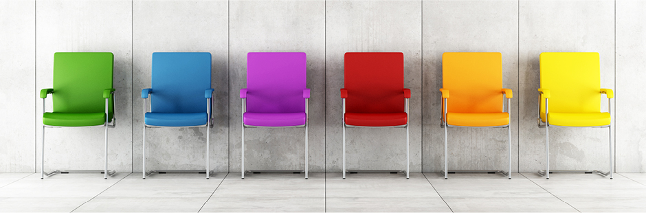 The benefits of introducing colour to the workplace.
