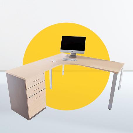 Antimicrobial furniture desk