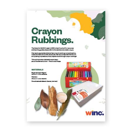 NAIDOC Week Crayon Rubbings Lesson Plan